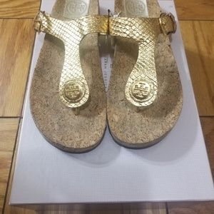 Leather & Cork Thong Sandals